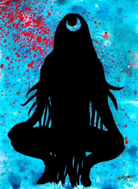 Suicide Squad: Enchantress Silhouette --- Original Artwork