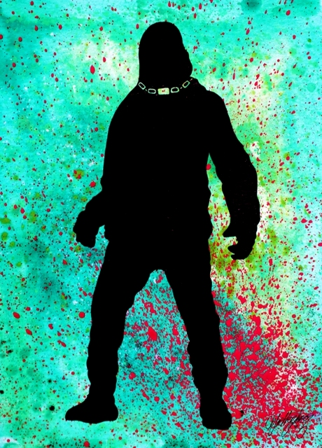 Suicide Squad: Killer Croc Silhouette --- Original Artwork