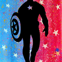 Captain America Silhouette --- Original Artwork