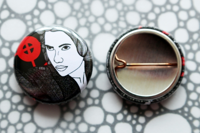 Badge Pin --- Black Widow