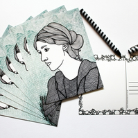 Printed Postcard --- It's All In Your Head: Virginia Woolf