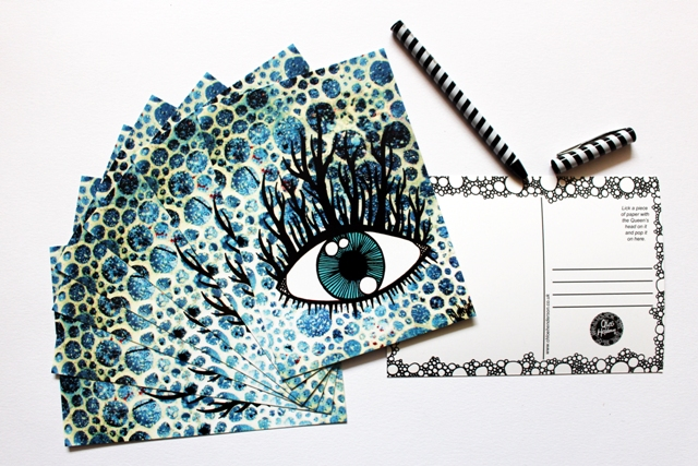 Printed Postcard --- Eyelashes