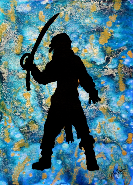 Captain Jack Silhouette --- Original Artwork
