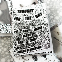 Zine --- Part 2 of The Body Image Issue --- Thought For The Day