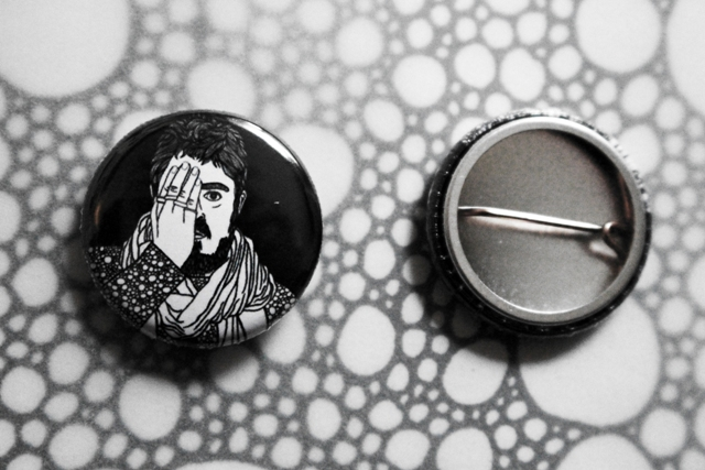 Badge Pin --- Phil Jupitus
