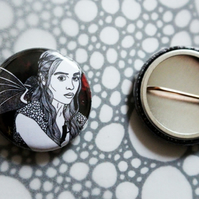 Badge Pin --- Mother of Dragons - inspired by Daenerys Targaryen Game of Thrones