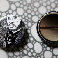 Badge Pin --- King in the North - inspired by Jon Snow in Game of Thrones