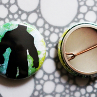 Badge Pin --- Silhouettes: The Hulk