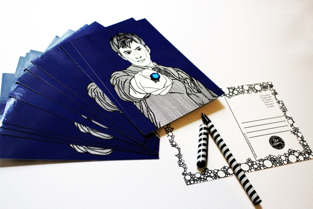Printed Postcard --- Doctor Who in blue!