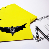 Printed Postcard --- Batman in yellow!