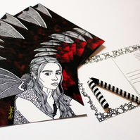 Printed Postcard --- Mother of Dragons