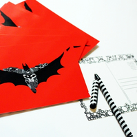 Printed Postcard --- Batman in red!