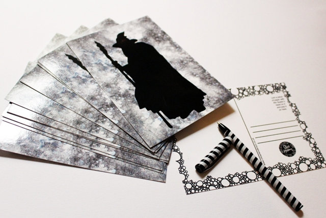 Printed Postcard --- Silhouettes --- Gandalf