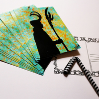Printed Postcard --- Silhouettes --- Loki The Trickster King