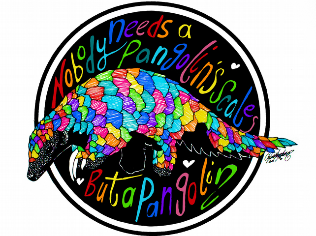 Nobody needs a Pangolin's scales but a Pangolin --- Original Artwork