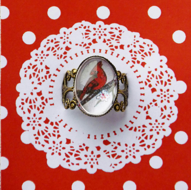 Red Cardinal Bird Ring