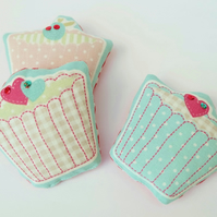 Three Cupcake Lavender Sachets, Trio of Cakes Lavender Bags, Scented Sachets