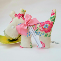 Lavender Sachet Dog, Classic Floral Fabric Scented Sachet, Mother's Day Gift