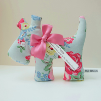 Puppy Lavender Sachet, Classic Blooms Fabric Scented Sachet Dog Decoration