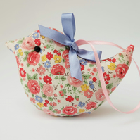 SPECIAL PRICE Lavender Sachet Bird, Little Rosy Floral Bird Decoration