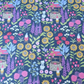 Lewis and Irene Grandma's Garden Gnome Flowers Cotton Fabric FQ, Quilt, Sew