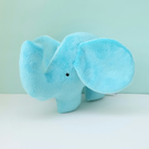 SALE Small Turquoise Plush Elephant Cuddle Plush Soft Toy