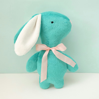 Sea Green Baby Rabbit, a Sweet Cuddle Plush Bunny