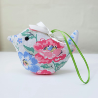 Lavender Bird Sachet, Vintage Style Country Flowers