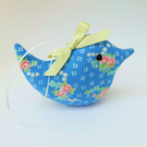 Mid Blue Floral Lavender Bird, Little Scented Sachet