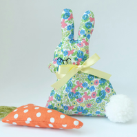 Lavender Bunny Sachet with Pompom Tail and Lavender Carrot, Easter Set