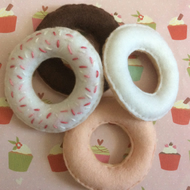 Hand stitched Felt donuts, play food