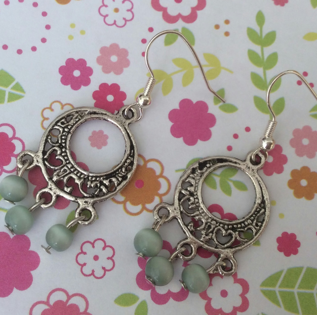 Boho Drop Bead Earrings