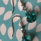 Turquoise Drop Bicone Cut Glass Bead Earrings