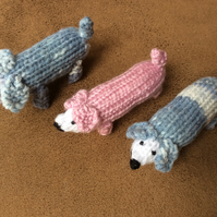 Knitted Sausage Dachshund  Dog