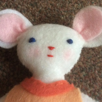 Hand Stitched Felt Mouse