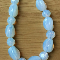 Opaque White Glass Bead Necklace