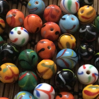 10mm Patterned Glass beads