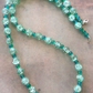 Green Crackle Glass Bead Necklace