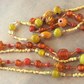 Orange and Lemon Long Bead Necklaces