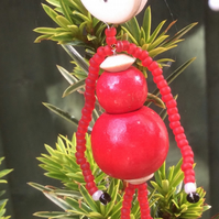 Christmas Bead Pixie Decoration