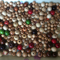 Wooden Beads for Jewellery and Craft Projects