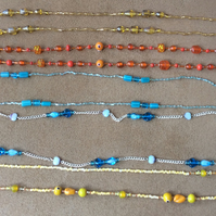 Summer Sale  Five Beaded Necklaces