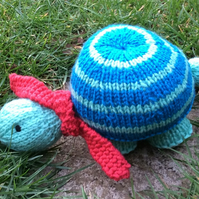 Hand Knitted Striped Tortoise