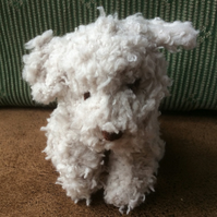 Hand knitted Scruff little puppy dog