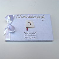Personalised Bible Christening Guest Book