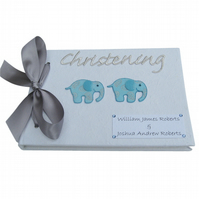 Personalised Twins Christening Guest Book