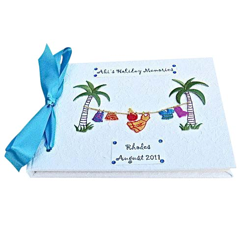 Personalised Holiday Memory Book or Journal