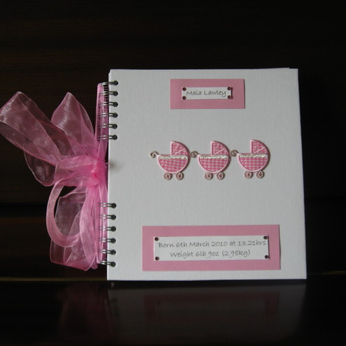 New Baby Memory Book for Girls - Folksy
