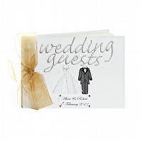 Personalised Wedding Guest Book - Bride & Groom