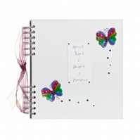 Personalised Tropical Butterfly Hopes and Dreams Book